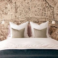 25 Accent Wall Ideas You'll Surely Wish to Try This at Home! Wallpaper Ideas and Inspirations Tags: accent wall accent wall ideas accent wall colors accent wallpaper accent wall bedroom accent wall living room accent wall colours Paris Wallpaper, Map Wallpaper, Custom Wallpaper, Bedroom Wallpaper, Accent Wallpaper, Amazing Wallpaper, Wallpaper Designs, France Wallpaper, Hallway Wallpaper