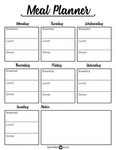 Healthy meal planning 824088431800522903 - Free Printable Menu Planner Sheet – Southern Plate Source by pimininimini Menu Planner Printable, Meal Planner Template, Meal Planning Printable, Weekly Meal Planner, Diet Planner, Menu Planning Template, Weekly Menu Template, Monthly Menu, Daily Schedule Printable