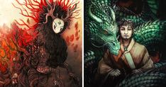 I Paint Dragons And Mythical Beasts Using Different Mediums | Bored Panda