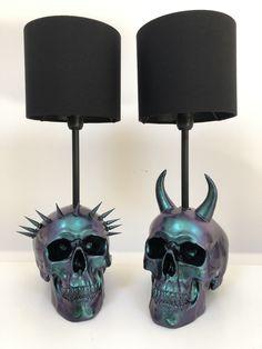 Dark Home Decor, Goth Home Decor, Skull Decor, Skull Art, Gothic Bedroom, Horror Decor, Gothic House, Room Setup, Diy Home Decor Projects