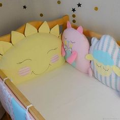 Order Bumpers on four . Cute Pillows, Baby Pillows, Kids Pillows, Baby Sewing Projects, Fabric Toys, Sewing Pillows, How To Make Pillows, Sewing Toys, Baby Kind