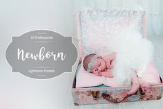 Newborn Lr Presets by FaeryDesign on Professional Lightroom Presets, Toddler Bed, Fonts, Photoshop, Graphics, Group, Digital, Board, Child Bed