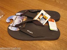 Men's Ocean Minded flip flops thongs sandals 8 40 EUR durbo brown cushion crocs