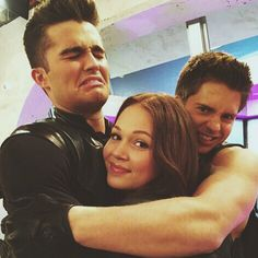 Photo: Kelli Berglund With Billy Unger and Spencer Boldman Disney Channel Shows, Disney Shows, Lab Rats Chase, Lab Rats Disney, Chase Davenport, Billy Unger, Mighty Med, Spencer Boldman, Leo Howard