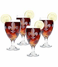 Mignon Faget Fleur-de-Lis 4-Piece Goblet Set