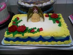beauty and the beast cake kit on a quarter sheet