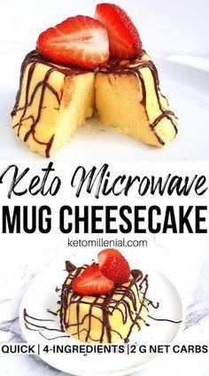 Desserts Keto, Keto Friendly Desserts, Keto Dessert Easy, Keto Snacks, Dessert Recipes, Holiday Desserts, Protein Snacks, Mug Recipes, Low Carb Recipes