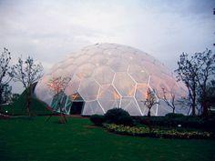 The ETFE dome Nantong Park Bon-Garden Greenhouse in Nantong, China.