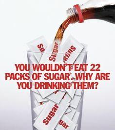 A little perspective in a glass.  I hate soda, and have restricted from my diet.