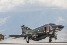 A QF-4 Aerial Target arrives at Hill Air Force Base, Utah, Oct. 25, 2016. The QF-4 was piloted by Jim Harkins, a pilot from Detachment 1, 82nd Aerial Targets Squadron, at Holloman AFB, New Mexico. (U.S. Air Force photo/Paul Holcomb)