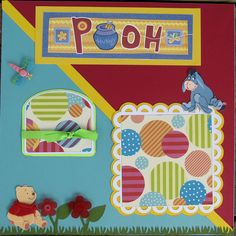New Baby Girl Scrapbook Layouts | Baby Girl or Boy Pooh Bear Scrapbook Pages - Premade - Kids, Winnie ...