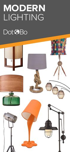 Lamps: Modern designs for every room Decorating Your Home, Interior Decorating, Interior Design, Home Lighting, Modern Lighting, Dot And Bo, Modern Table, Floor Lamps, Unique Furniture