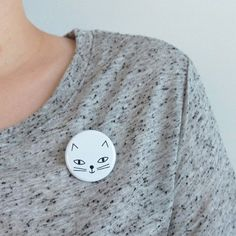 Audrey Jeanne Chat badge – Tea and Kate