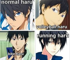 anime, nanase haruka, and free image // As a person who watched Free before all other sports anime, yes, I can confirm that this is 100% accurate.