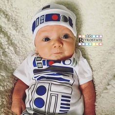 R2D2 inspired Outfit  Baby Favourite  Funny Robot by retrostate