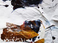 Ian MacLeod ::  'Untitled' -  Acrylic, oil, varathane and glue on paper.