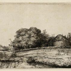Rembrandt, Landschap met hooimijt en kudde schapen ( B 224 ), 1652. Teylers Museum