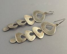 Vintage Jane Diaz Sterling Silver Modernist Earrings by jujubee1