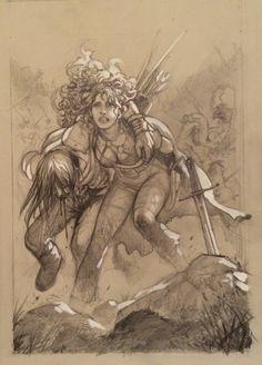 Massimiliano Frezzato - Irdris e Tyke - Comic Art