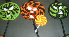 Halloween monster candy ornaments