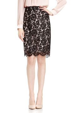 Vince Camuto Lace Pencil Skirt available at #Nordstrom