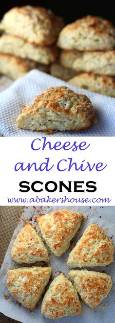 Cheese and Chive Scones A recipe from Whole Foods made by Holly Baker at www.abakershouse.com