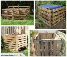 I need a compost bin: Home compost bin - cheap & simple! made from wooden pallets