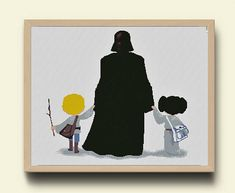 For all fans of Star Wars, funny embroidery. Darth Vader with children -Princess Leia and Han Solo;) PATTERN DETAILS: ********************************************************************** When you purchase 2 embroidery, a third I will send to you by e-mail within 24 hours of