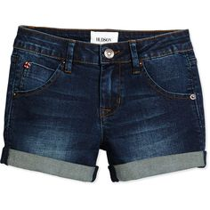 Hudson Rolled-Cuff Shorts ($29) ❤ liked on Polyvore featuring shorts, bottoms, rivington, cuff shorts, jean shorts, cuffed shorts, hudson shorts and frayed shorts