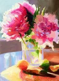 Resultado de imagen de acrylic paintings of watercolor white flowers