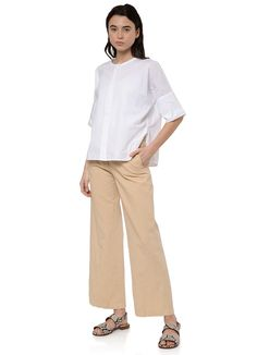 Pomandere - 9303 Cotton Shirt in White – gravitypope Mother Of Pearl Buttons, Khaki Pants, Short Sleeves, Normcore, Collections, Fabric, Cotton, Shirts, Fashion