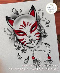 Hanya Mask Tattoo, Hannya Tattoo, Japanese Mask Tattoo, Japanese Tattoo Designs, Star Tattoo Designs, Tattoo Design Drawings, Oni Maske, Blackwork, Japan Tattoo Design