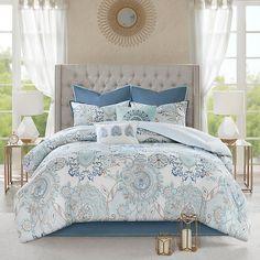 Floral Bedding, Boho Bedding, Coastal Bedding, Luxury Bedding, King Pillows, Throw Pillows Bed, Blue Comforter Sets, Bedding Sets, Modern Shabby Chic
