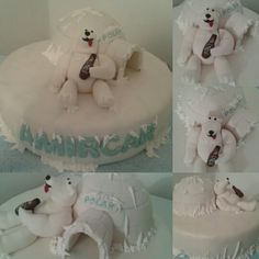 Torta Oso Polar / Birthday cake Polar Bear