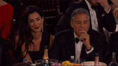 Pin for Later: Relive the Best Moments From the Golden Globes When Tina and Amy Made Fun of George Clooney and He Totally Went With It