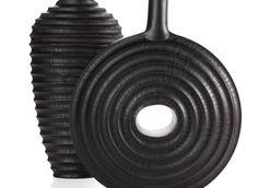 Home Accessories | Vases | Principle & Motive Vase - Black | Z Gallerie