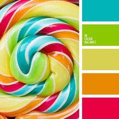 Couleur bonbon, palette de couleur coloré. #palette #colorimétrie - margauxduprat.com -