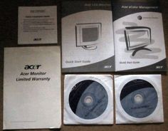 Acer LCD Monitor X221W software & Start Guides