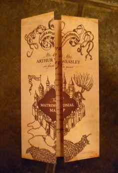 harry potter wedding invitation set marauder's map - printable diy, Wedding invitations