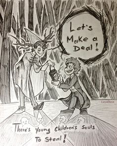 """Beast!possesed Wirt and Bipper - """"Let's make a deal! There's young children's souls to steal!"""""""