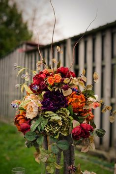 19 Gorgeous Fall Flower Displays via Brit + Co.