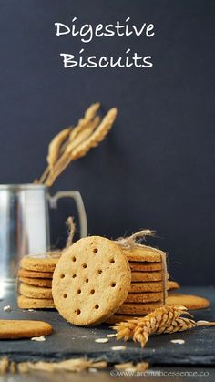 Step-by-step recipe with pictures to make digestive biscuits. How to make whole … Step-by-step recipe with pictures to make digestive biscuits. How to make whole wheat and oats digestive biscuits recipe. Digestive Cookies, Digestive Biscuits, Digestive Cookie Recipe, Oat Cookies, Biscuit Cookies, Whole Wheat Cookies, Whole Wheat Crackers Recipe, Whole Wheat Biscuits, Basic Cookies