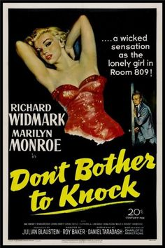 Don't Bother to Knock' - film poster art, 1952.