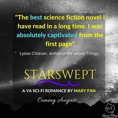 Thank you @lyssachiavari for this awesome quote about STARSWEPT! ❤️ Add it on Goodreads: https://www.goodreads.com/book/show/34377743-starswept    #scifibooks #bookstagram #authorsofinstagram #writersofinstagram #writersofig #youngadultbooks #yalit #SWP