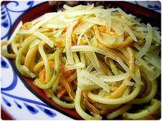 Elviras Bistrot: Esparguete com molho de iogurte e cenoura