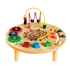 Circle Play Center Wooden Activity Table