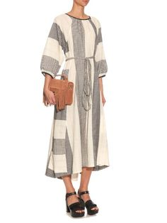 Ace & Jig Heather cotton-blend midi dress | Women's Fashion Inspiration for Sewing | Inspiration for Wardrobe Building and Sewing Clothing | Style