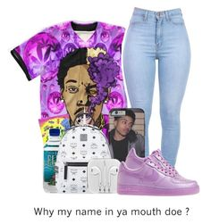 """""""U mad - vic mensa"""" by mesanna ❤ liked on Polyvore featuring MCM and NIKE"""