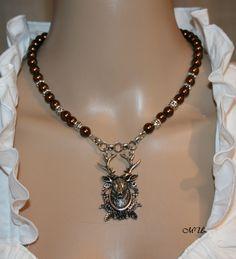 Perlen-Trachten-Kette  mit Hirsch von Edelweiss51 auf Etsy