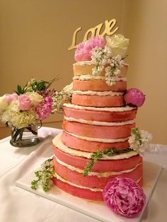Ombre naked wedding cake from Flickr